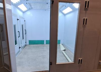 Vue portes principales cabine sur mesure