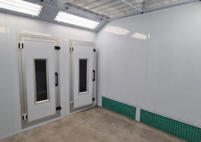 Interieur cabine de peinture sur mesure