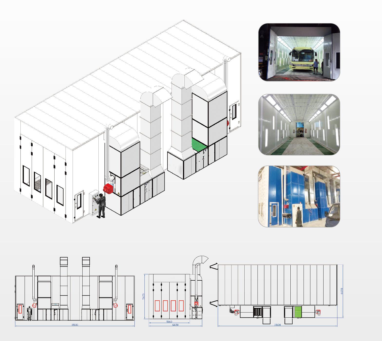 cabine de peinture industrielle - option 2